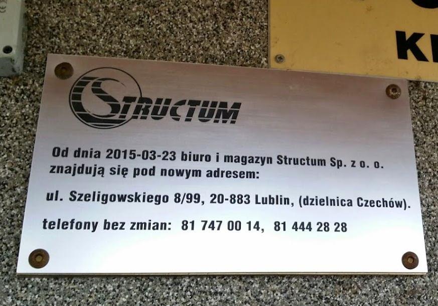 zmiana adresu firmy Structum