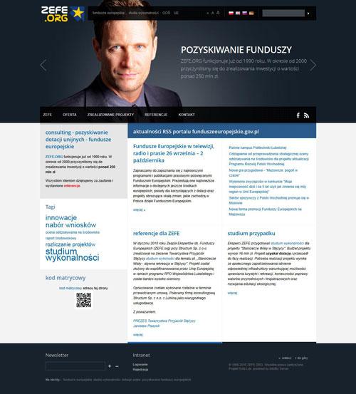 Historia Firmy - nowa wersja witryny ZEFE