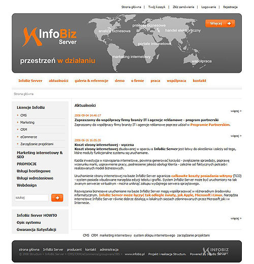 SYSTEM CMS/CRM/SEO/COMMERCE INFOBIZ SERVER